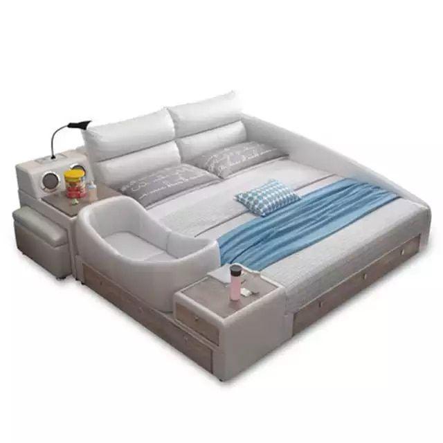 CBMMART dernier nouveau produit de publication avec lit en cuir Convertible Intelligent pour ...