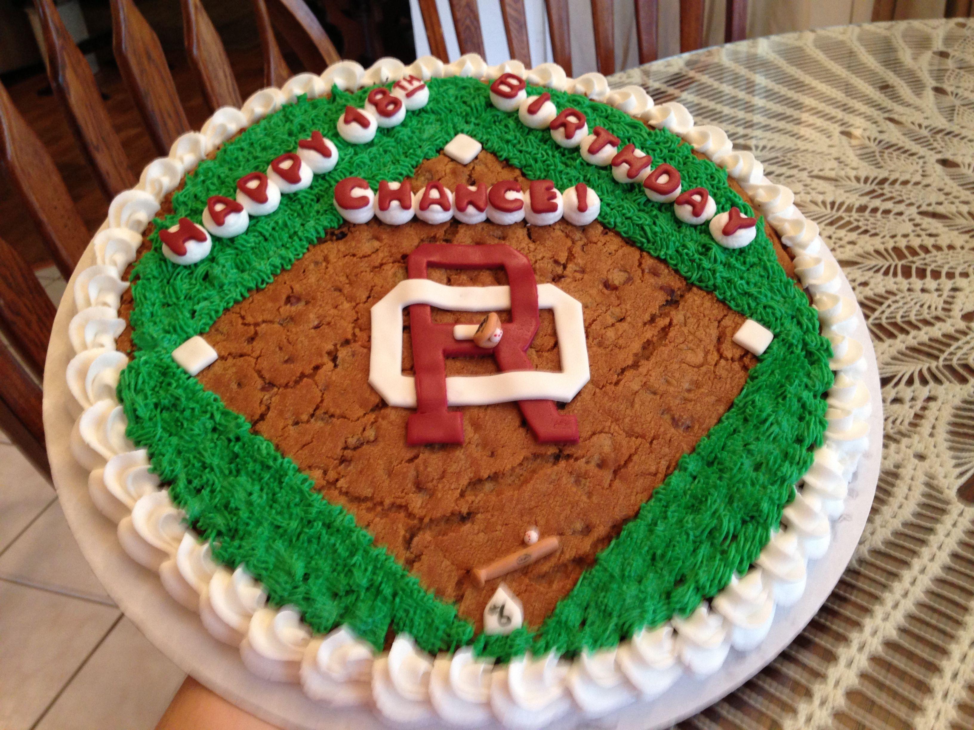 Baseball cookie cake baseball birthday cakes cookie