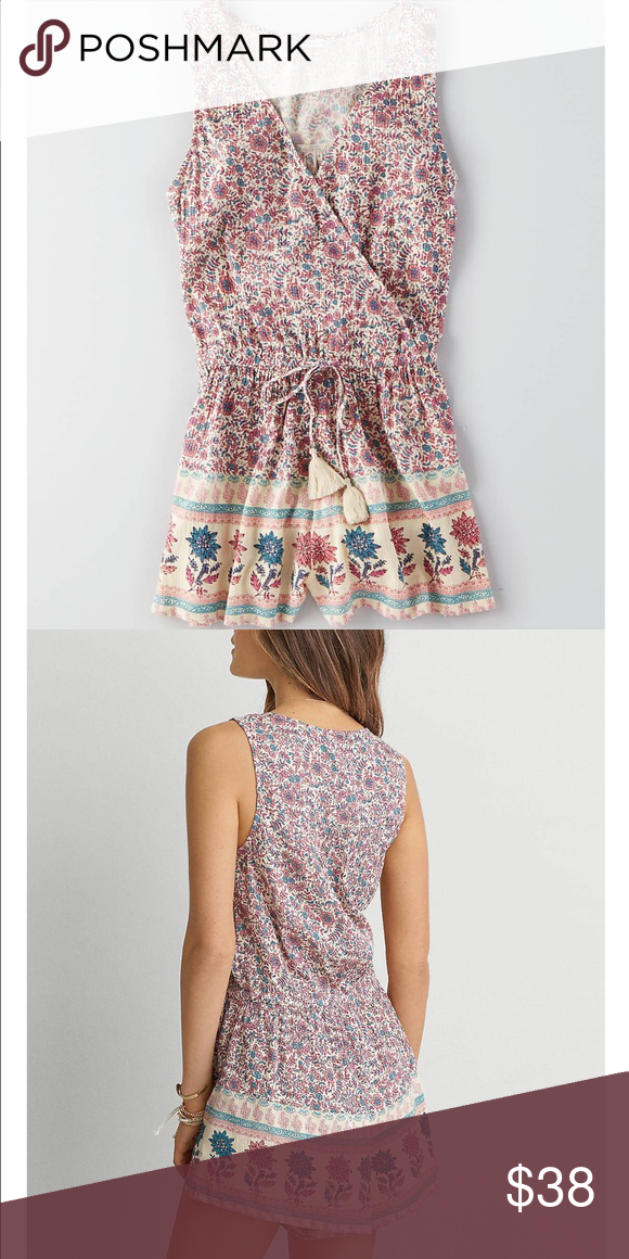 bf16a0f1a0bb New American Eagle Floral Wrap Romper - Small Brand new American Eagle  Outfitters Other