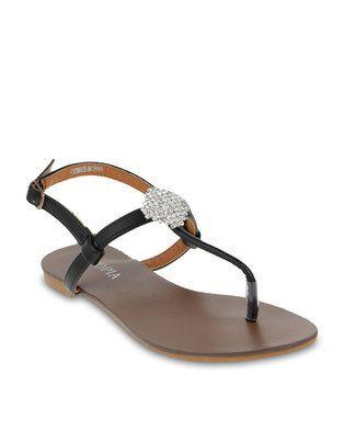 14e7a3834 Utopia Square Diamante Sandals Black size 8