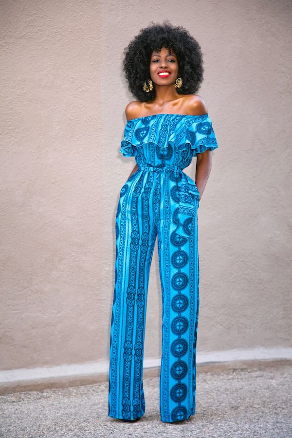 28b19dd414de Frill Off Shoulder Jumpsuit ~African fashion