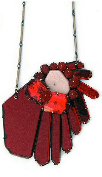 Plexiglass necklace, NikkiCouppee.com
