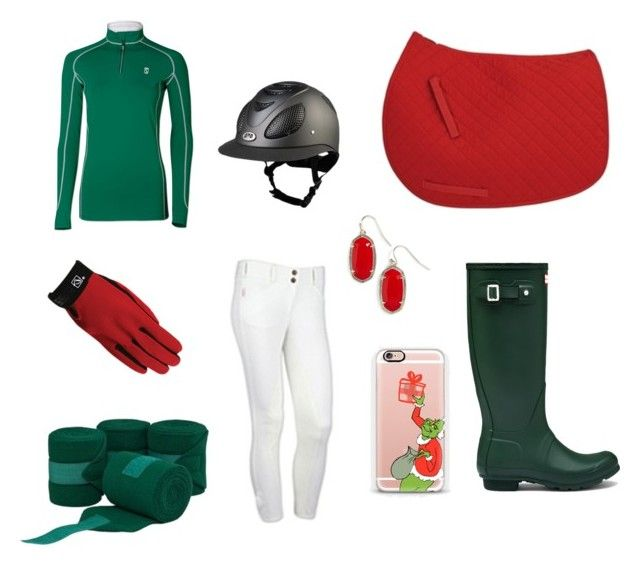"""""""Christmas spirit ride"""" by thepreppypony on Polyvore featuring Casetify, Hunter, Kendra Scott, preppy, horses and equestrian"""