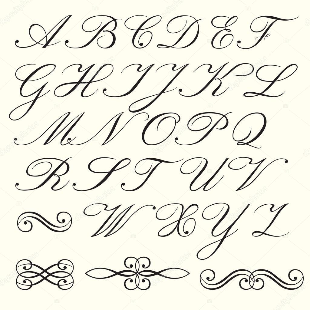 Magnifiek Afbeeldingsresultaat voor sierlijke letters alfabet | Lettertype @IQ58