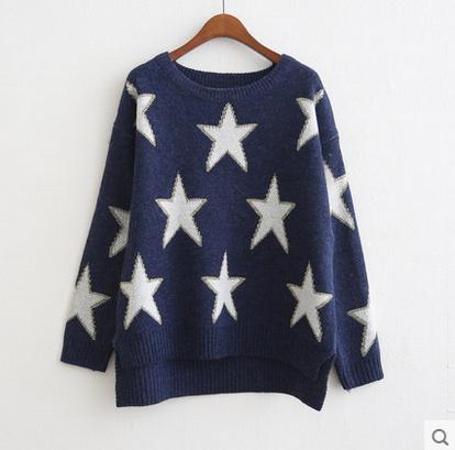 Cute kawaii students pentagram sweater