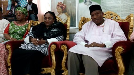 Former President Goodluck Jonathan and his wife Patience are presently in Ikenne Ogun State on a...