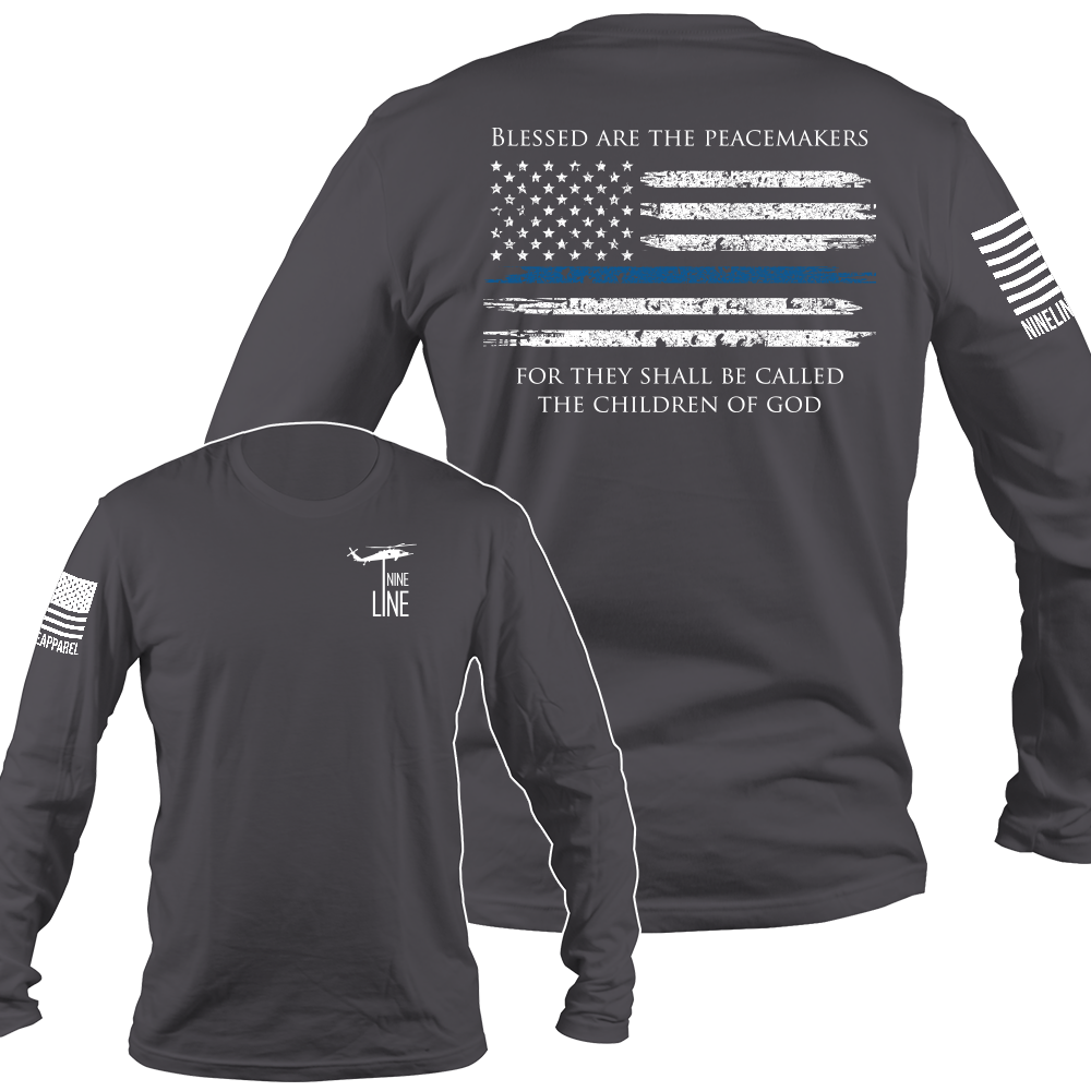 Men's Long Sleeve Thin Blue Line Nine line apparel