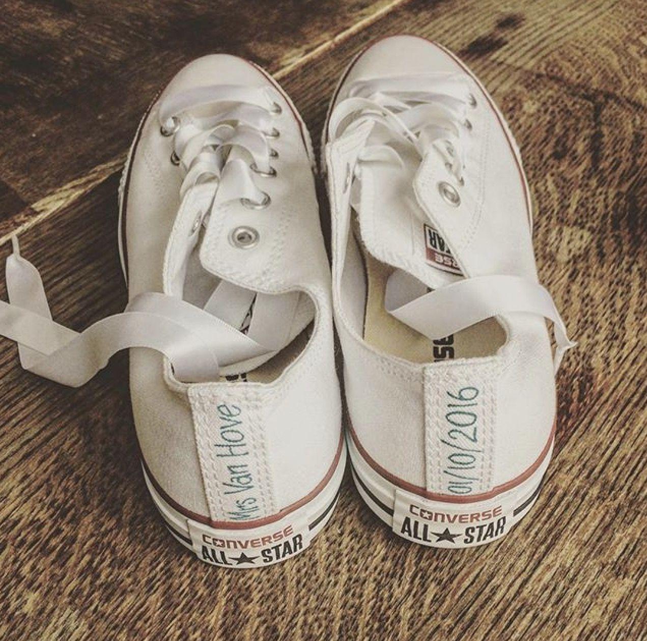 ec07b2f1896d Personalised Heel Tags Wedding Converse  customconverse  weddingconverse   heeltags  personalisedconverse