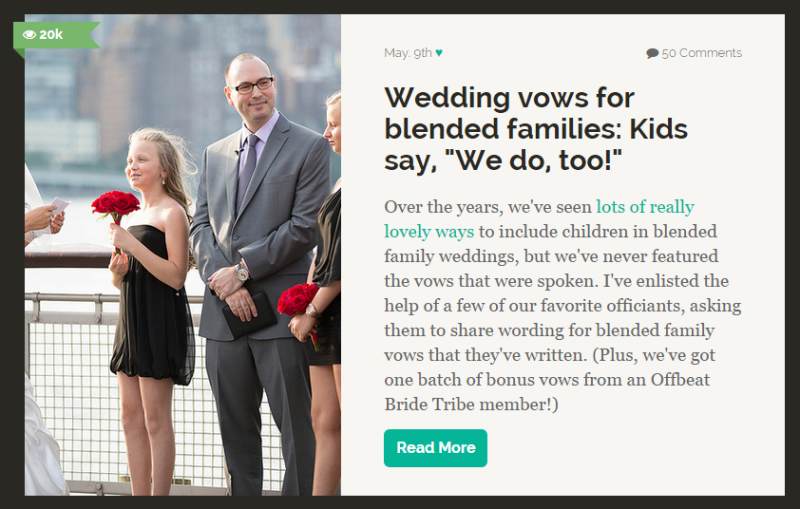 Blended Family Vows Step Children Wedding Ceremony Offbeat Bride