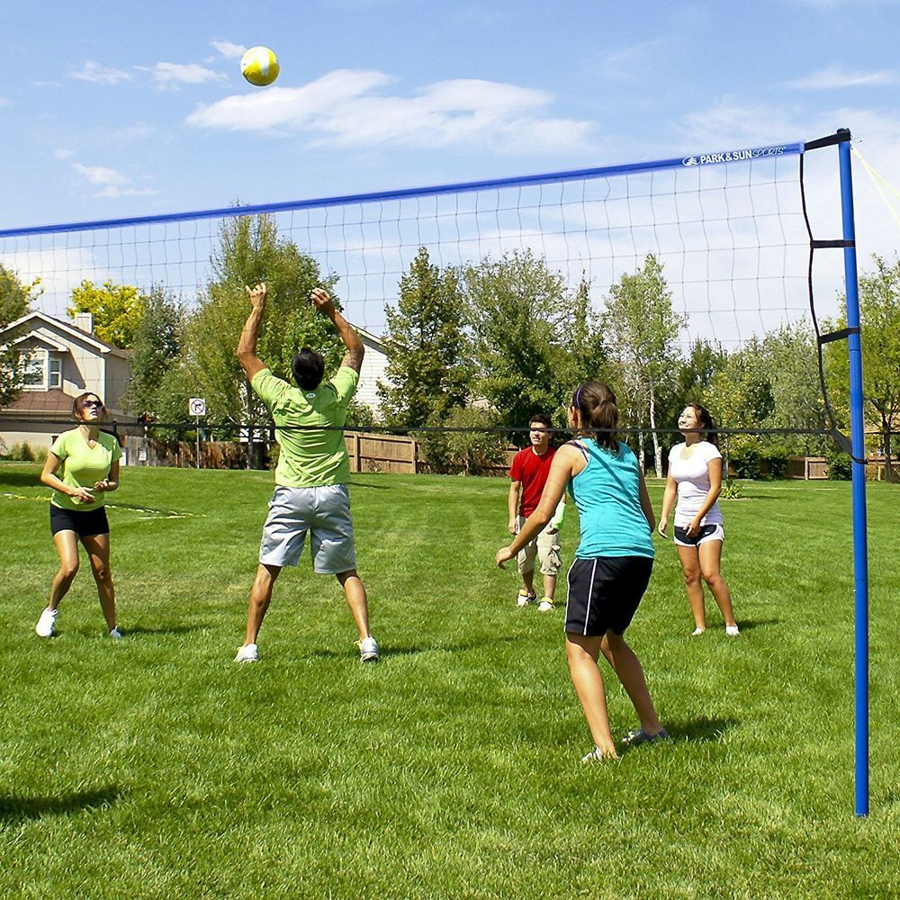 Volleyball Net Set Portable Outdoor Backyard Beach Poles Ball Pump Sports Volleyball Set Volleyball Net Set Sports