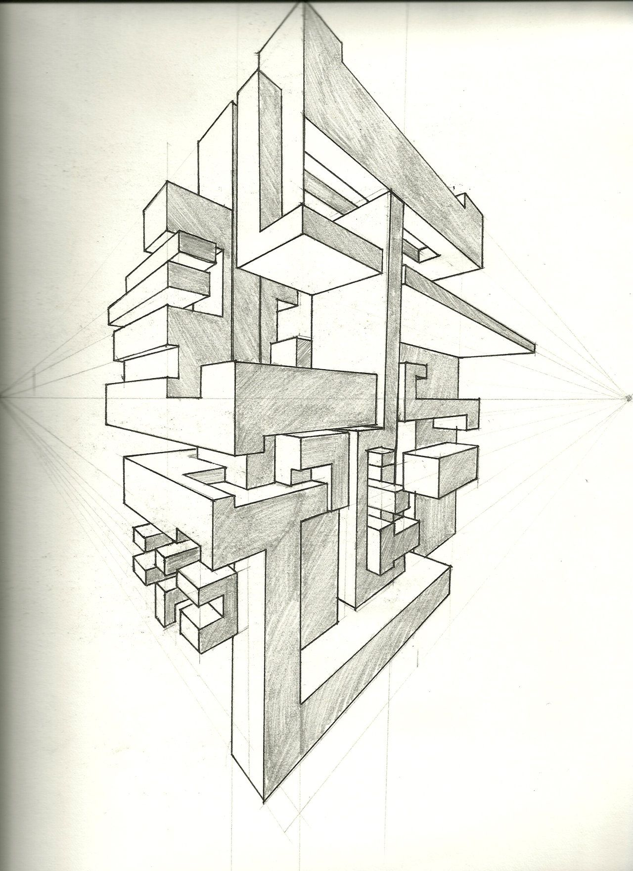 Two Point Perspective Exercise By Tower015 On Deviantart Perspective Art Perspective Drawing 2 Point Perspective Drawing