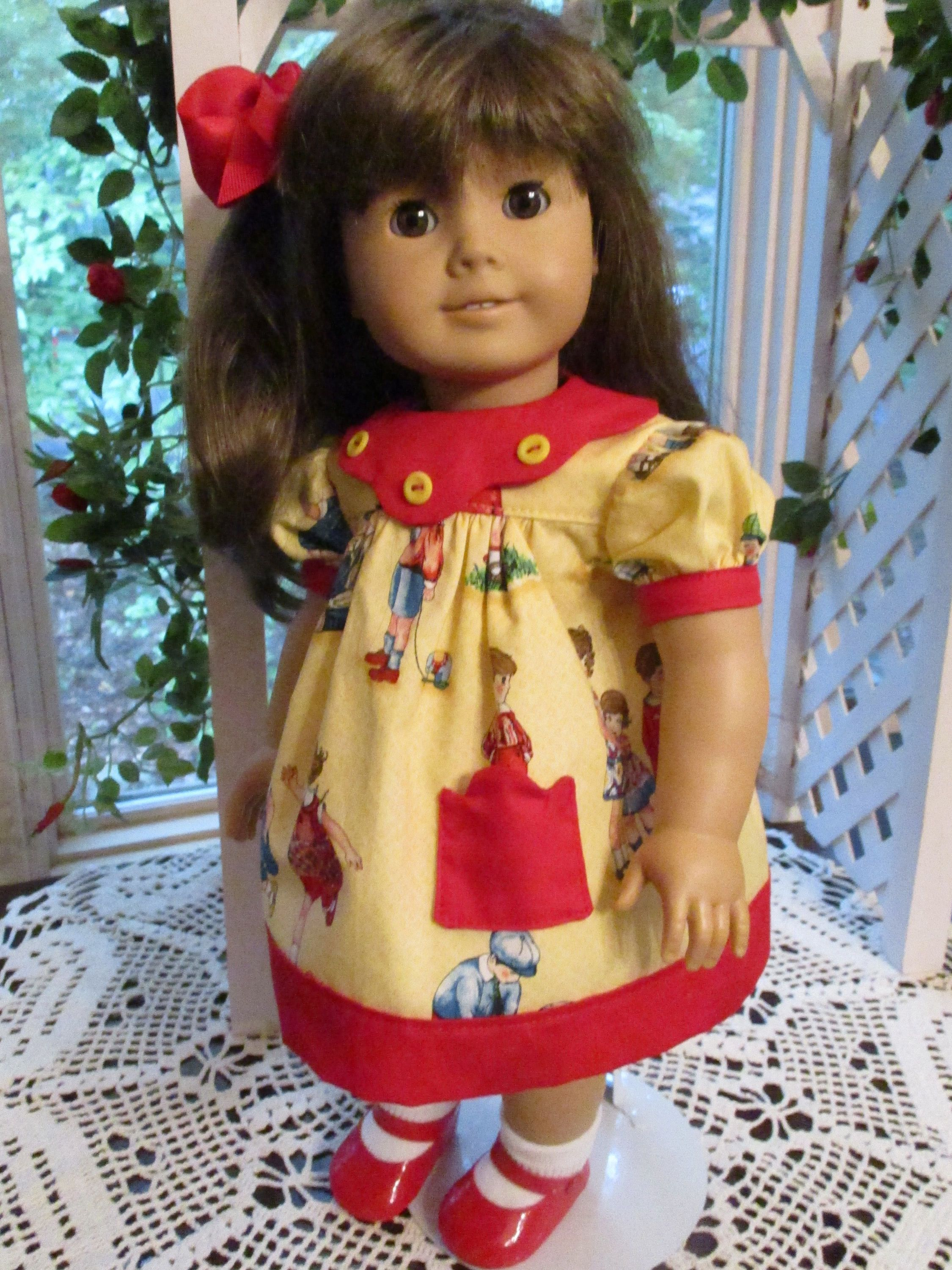 Yellow and Red Doll Dress to fit your 18\
