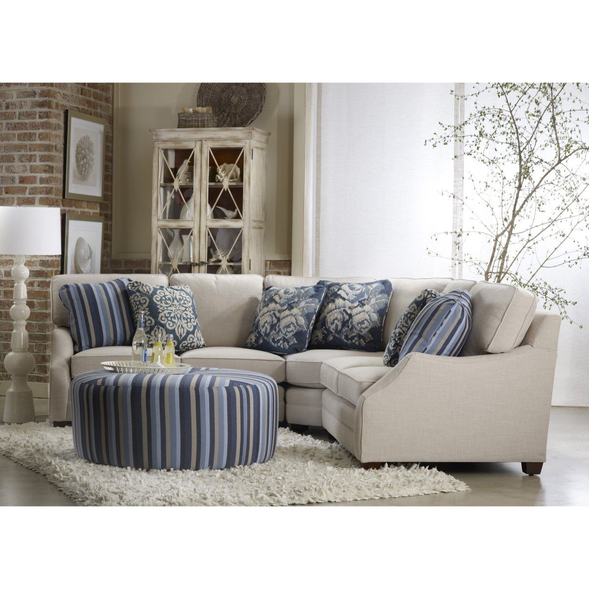 Best Sam Moore Rita Sectional With Ottoman Small Reclining 400 x 300