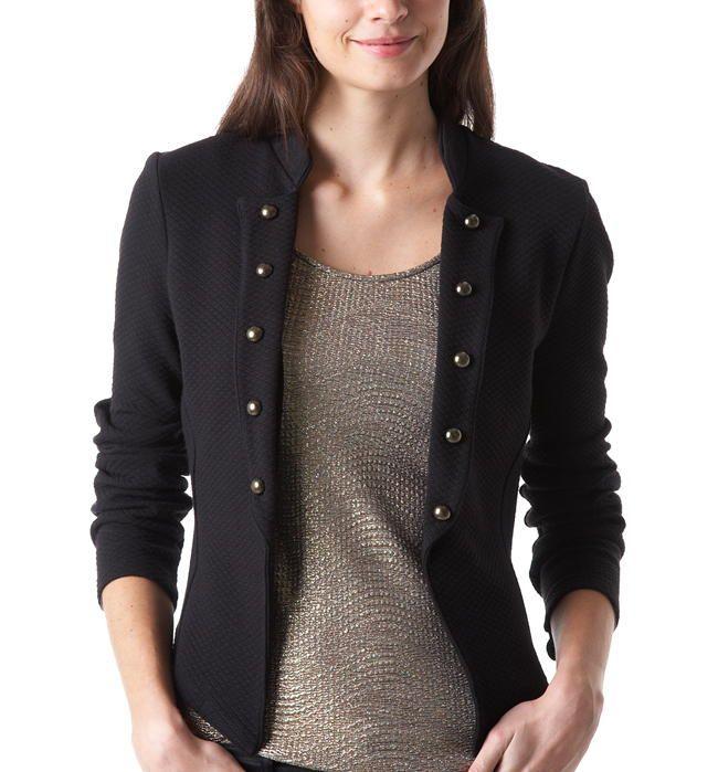 veste courte militaire noir prix promo promod 39 95 ttc mode femme pinterest vestes. Black Bedroom Furniture Sets. Home Design Ideas