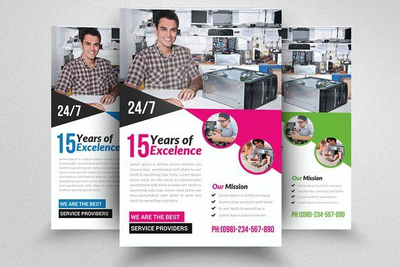 Computer repair flyer template creativework247 templates computer repair flyer template templates featuresphotoshop is used to create this file inches size inches bleed cmyk color by business flyers wajeb