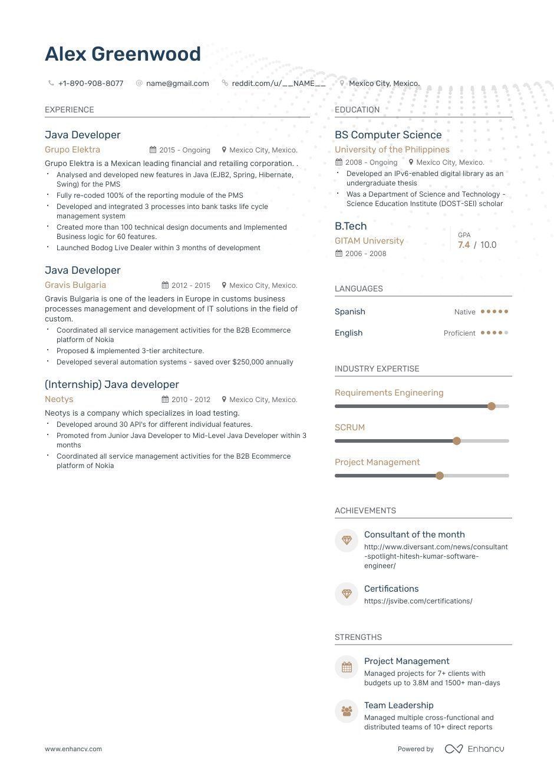 6 Junior Java Developer Resume Examples 2019 Resume Examples Resume Development