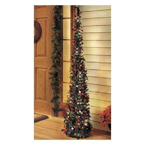 Artificial Christmas Tree Prelit 5 Ft Slim Sequins Wireless Timer