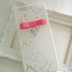 大人可愛い♡ Elegance jewel iphonecase ダマスクレース柄ケース ☆オーダー商品☆