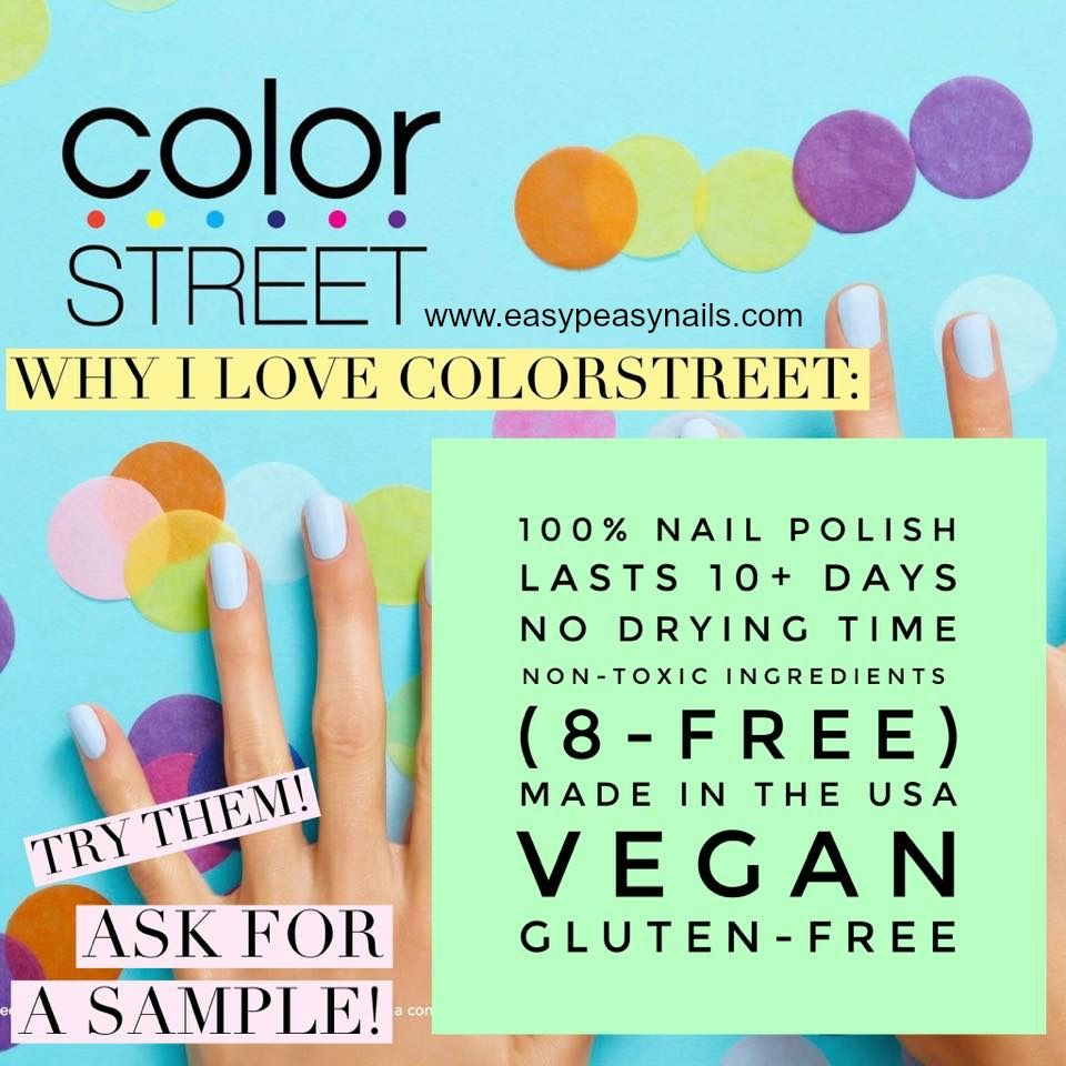 Color Street 100% Nail Polish Strips | nail art | free ...