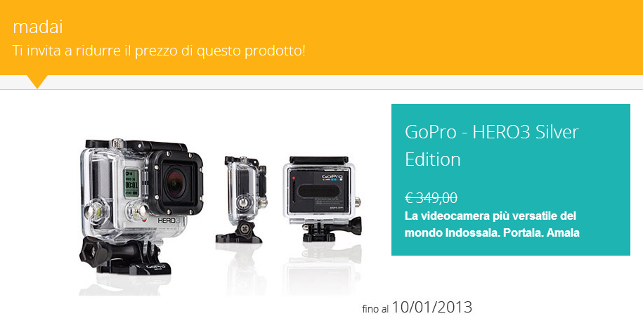 GoPro - HERO3 Silver Edition | The price? You choose!
