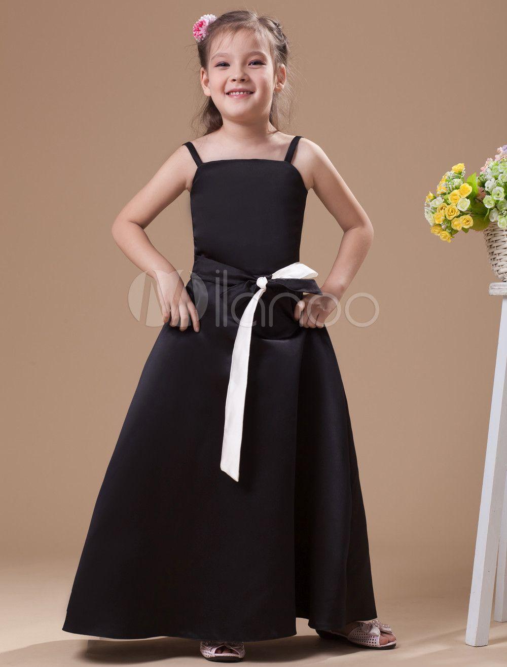 Milanoo ltd junior bridesmaid dresses attractive black satin milanoo ltd junior bridesmaid dresses attractive black satin ombrellifo Choice Image