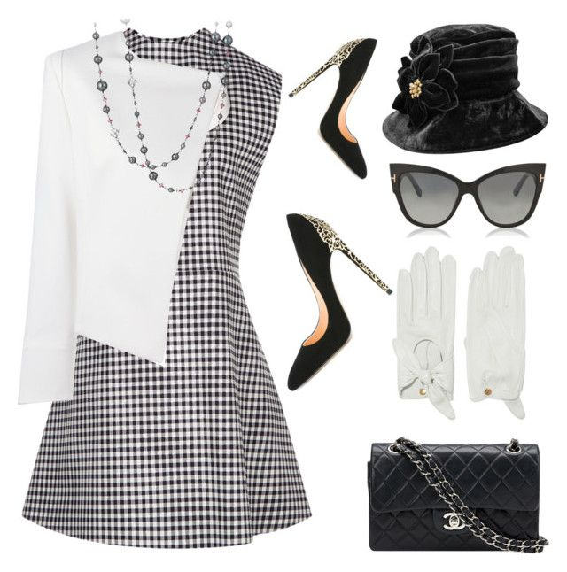"""Button Down Dress"" by pure-vnom ❤ liked on Polyvore featuring A.W.A.K.E., Tom Ford, Plein Sud Jeanius, Causse, Chanel, David Yurman and Cerasella Milano"