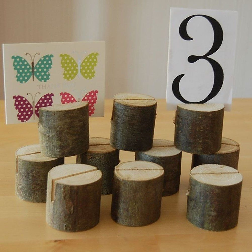 wood wedding card holders%0A Wooden Holders Wedding Table Place Name Menu Photo Restaurants Shops Etc X