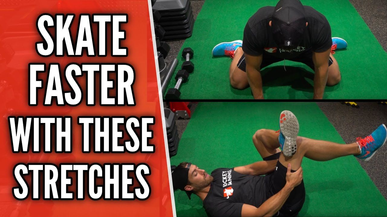 Skate Faster With These Stretches Agility Workouts Hockey Workouts Hockey Kids