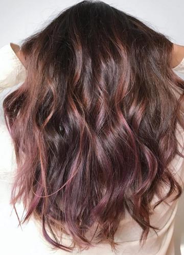 Chocolate Mauve Die Trend Haarfarbe Fur Den Herbst Rose Baylage