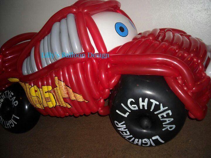 Cars balloon sculpture