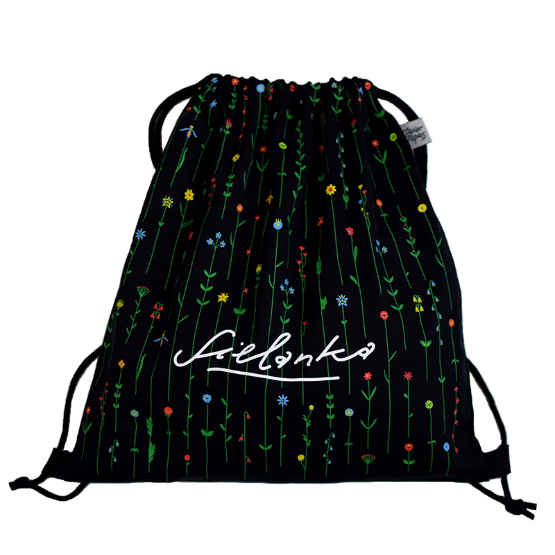 Sielanka Worek Na Sznurkach Plecak Bawelniany Z Nadrukiem Skandal Czarny Ekologiczny Worek Na Plecy 100 Bawelna Sit Drawstring Backpack Backpacks Fashion
