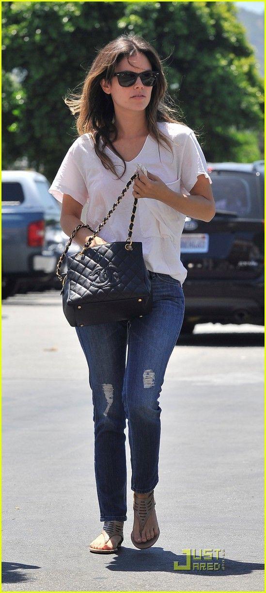 d2bad891436b Rachel Bilson & her Chanel Petite Timeless Tote #Chanel #MoshPosh  #RachelBilson