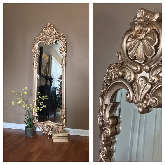 Stunning Ornate Gold Wall Mirror Large Vintage Wall