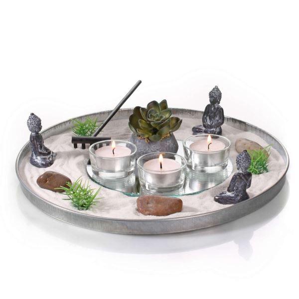 jardin japonais zen jardin zen plateau rond art floral pinterest plateau rond zen et. Black Bedroom Furniture Sets. Home Design Ideas