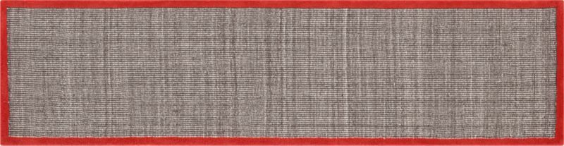 Best Tweed Dark Brown Linen With Burnt Orange Border Runner In 640 x 480