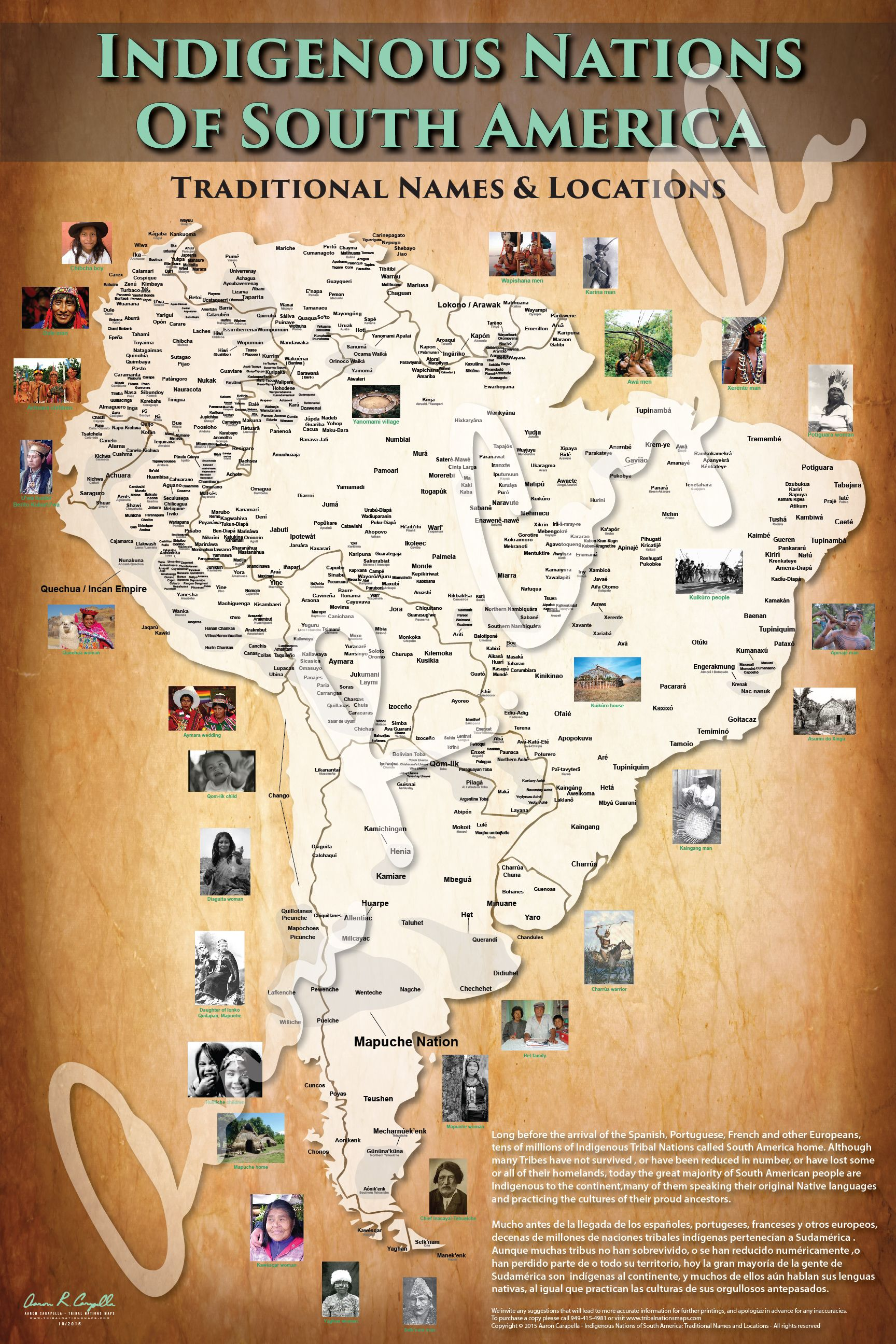 Aaron Carapella Tribal Nations Map South America  Charts -9568