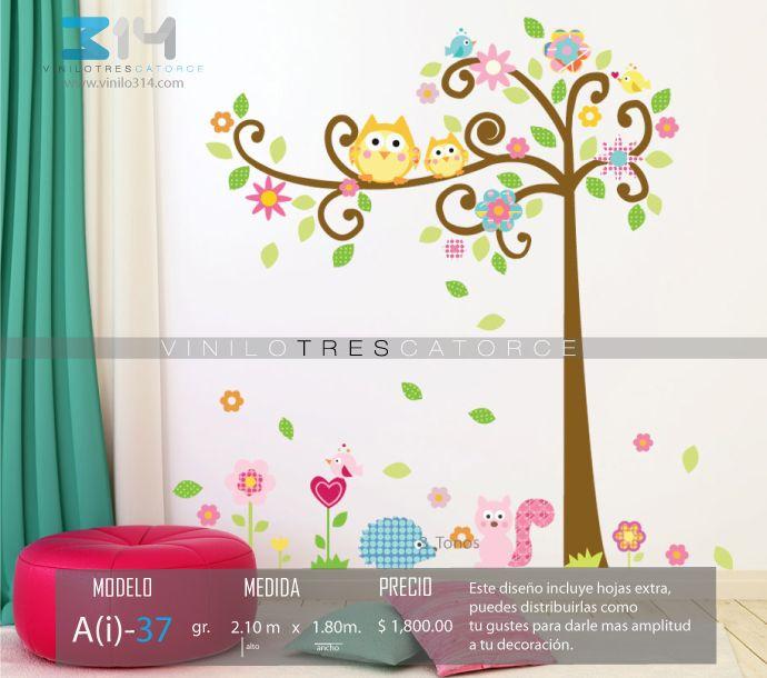 vinilos decorativos rboles infantiles sticker decorativo rbol bhos ardilla flores pjaros