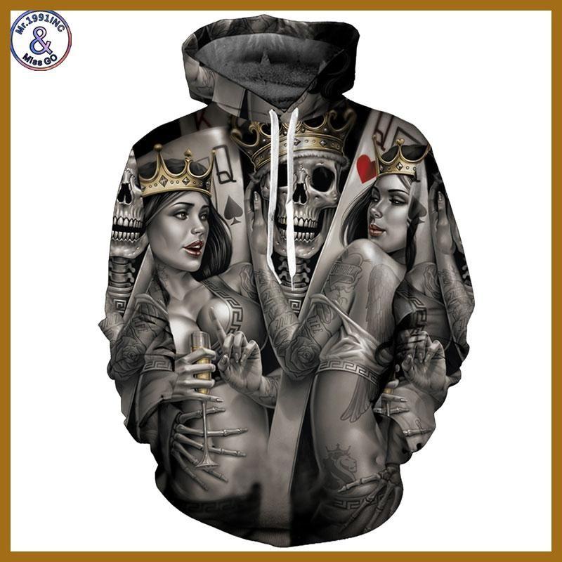 Mr.1991INC New Fashion Men Women 3d Hoodies Print Metal Skulls Bride Groom  Hooded. Novio De La NoviaNueva ModaHombre MujerSudaderas ... 15657ca06a6