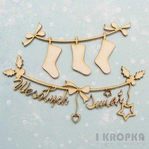 Pierwsza Gwiazdka - świąteczne girlandy - Wesołych Świąt