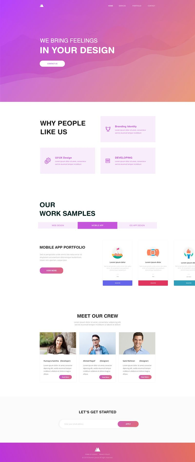 An agency website template made with Adobe XD    Adobe XD Website
