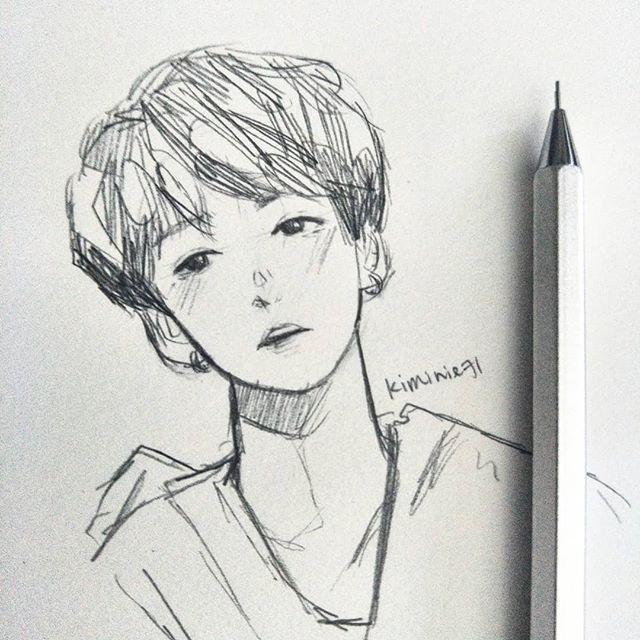 Bangtan Bts Btsart Bangtanboys Btsfanart Fanart Drawing Sketch Art Pencil Illust Illustrat