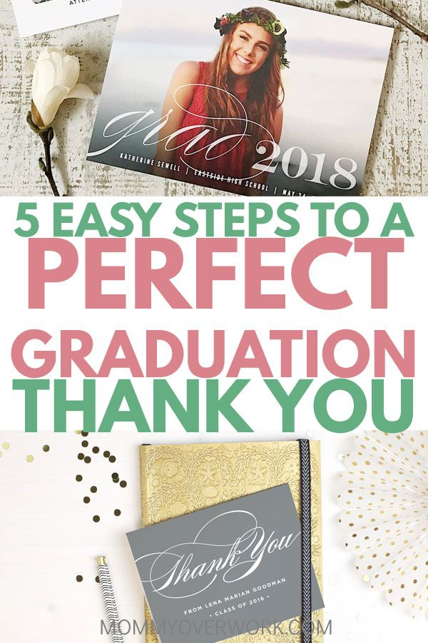 How to Write the PERFECT GRADUATION THANK YOU with Basic