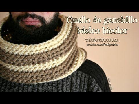 Cuello trenzado modelo deportivo para hombres (tejido en dos agujas ...