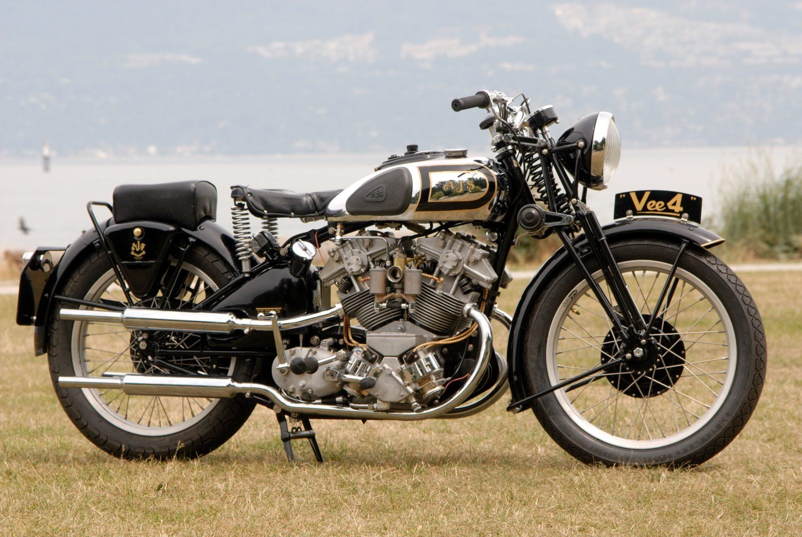 Resurrecting The Mighty Ajs V4 From 1936 Bobber Motorcycle Vintage Motorcycles British Motorcycles