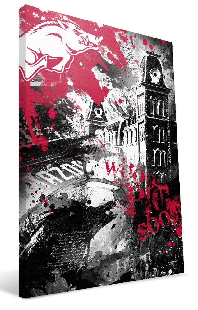 Arkansas Razorbacks Spirit Canvas Print