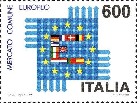 1992 Europa Unita Mercato Comune Europeo L Iniziale E Di