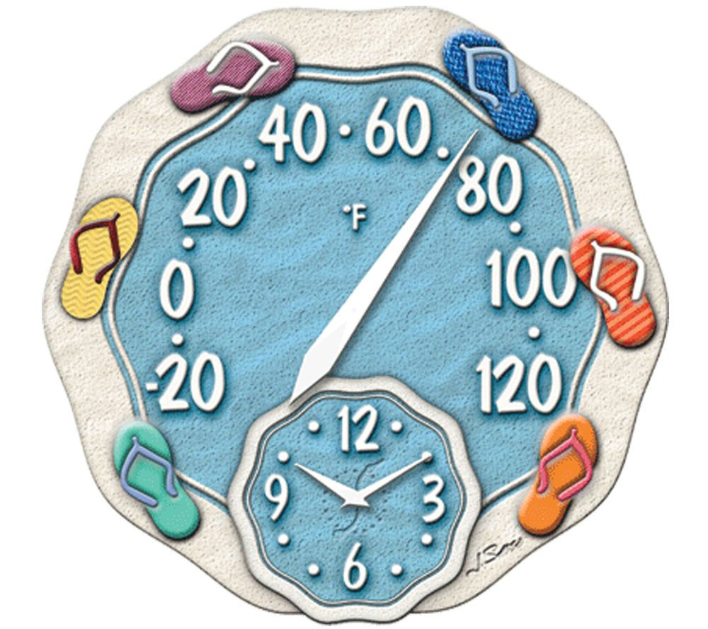 Taylor Springfield Precision Instruments 12 Thermometer Wall Clock Retro Outdoor Clock Outdoor Thermometer Decorating Flip Flops