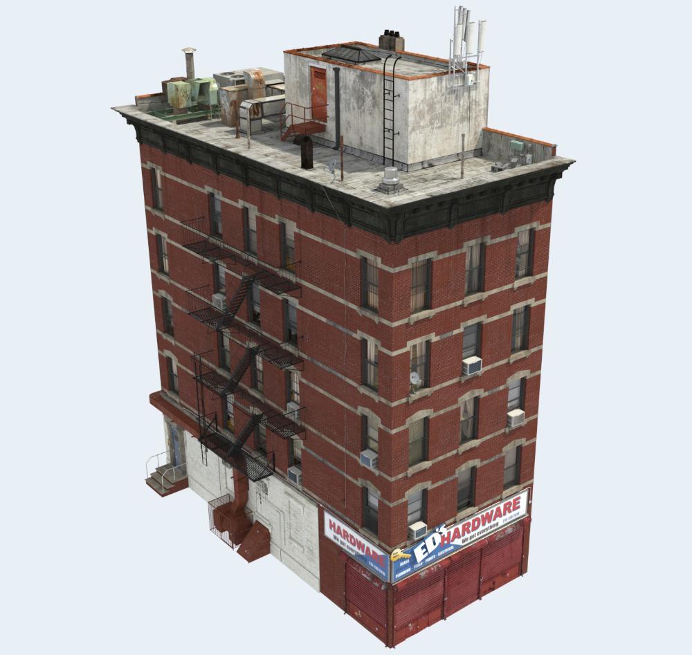 3d Building Apartment Model 3d Building 3d Model Building