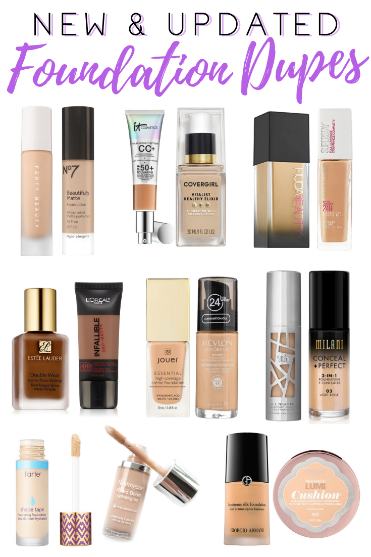 Drugstore Dupe Series Foundations Creativity Jar Best Makeup Dupes Makeup Dupes Drugstore Makeup Dupes