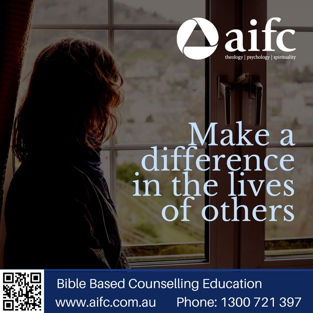As a Christian counsellor you can make a difference in the